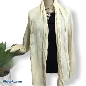 Michael Kors braided open knit cardigan